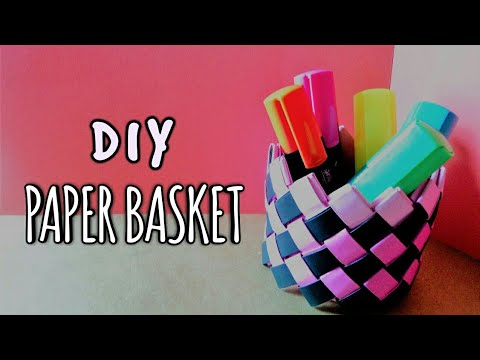 DIY PAPER BASKET TUTORIAL| EASY AND CREATIVE[FOR HOME DECOR