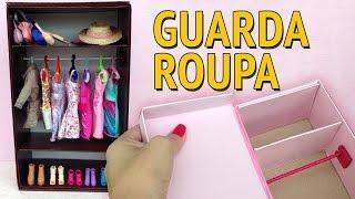 Guarda Roupa e Closet para Barbie feito com Caixa de Sapato! Como fazer! thumbnail