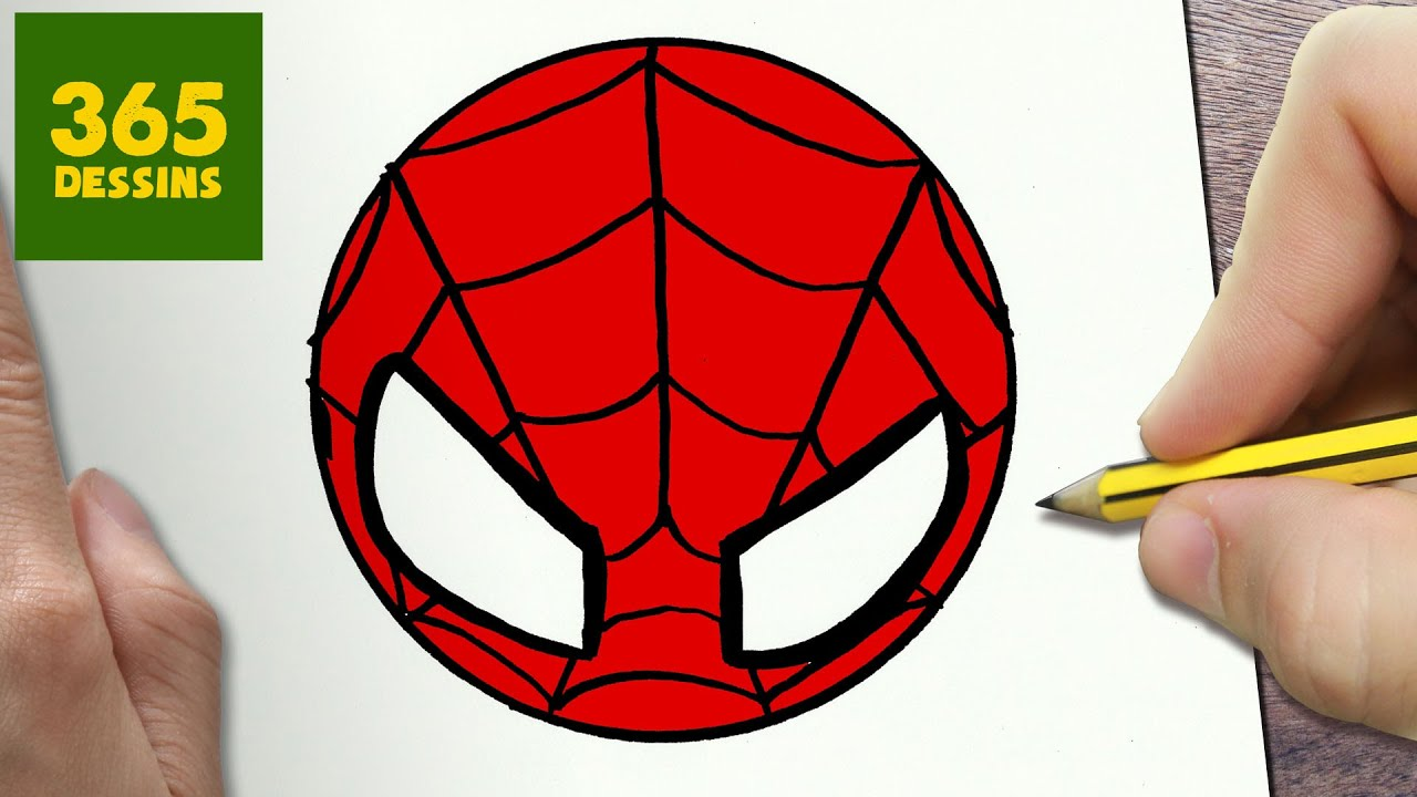 Comment dessiner spiderman kawaii tape par tape - Dessin spiderman facile ...