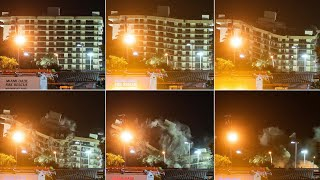 video: Collapsed Miami apartment block demolished ahead of tropical storm