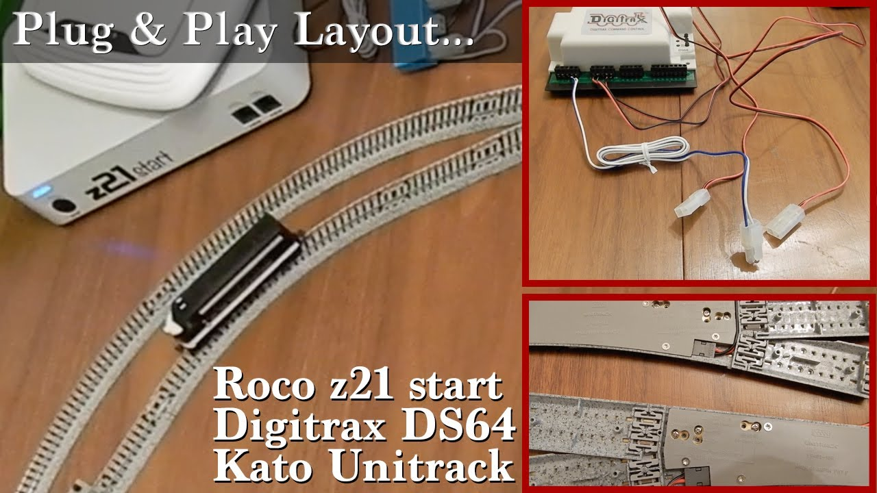 [DIAGRAM_38DE]  Creating A DCC Plug & Play System with the Roco z21, Digitrax DS64 & Kato  Unitrack - YouTube | Kato Unitrack Wiring |  | YouTube