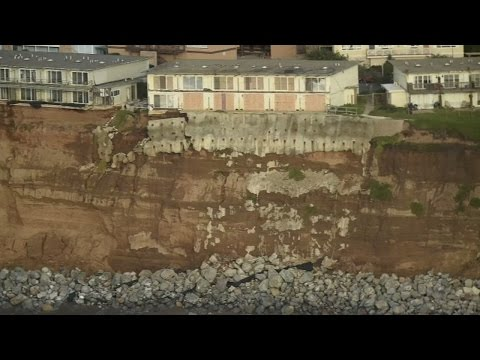 California coastline swept away by landslides