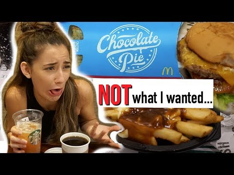 Letting The Person in Front of Me DECIDE What I Eat for a Day (EPIC food challenge)