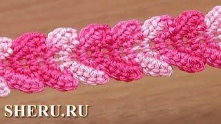 Free Crochet Braid Ribbon Tutorial 30 Вязаный крючком шнур