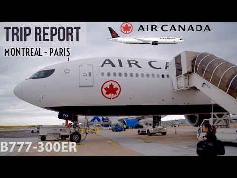 (HD) [TRIP REPORT]  AIR CANADA  B777-300ER  ECONOMY CLASS | MONTREAL - PARIS   AC 884