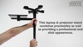 Vonyx Height Adjustable Laptop / Projector Stand