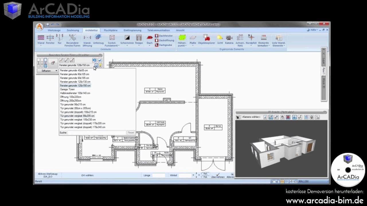 Fenster in 2D / 3D Grundriss einfügen & zeichnen - Fenster ...