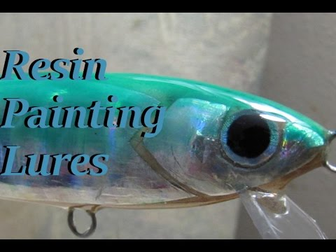 Lure Painting : Finishing a lure with resin