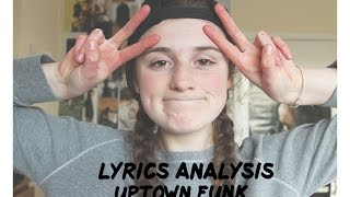 LYRICS ANALYSIS: Uptown Funk