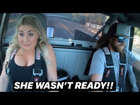 GIRLFRIEND REACTS TO TRIPLE TURBO 12V 2ND GEN CUMMINS BOOST LAUNCH AND RIDE ALONG!!! (GOT HER GOOD!)