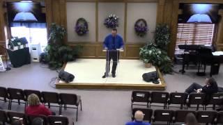 Pastor Tony Cash Sabbath May 17, 2014