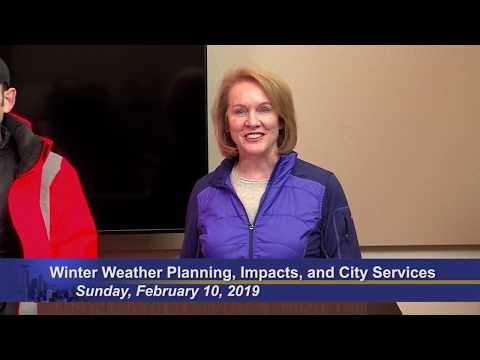 City of Seattle Update on Winter Weather Planning, Impacts, and City Services