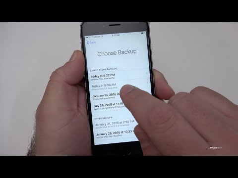 How to Restore an iPhone from an Updated iOS Backup