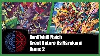 Cardfight!! Vanguard - Great Nature (Chatnoir) Vs Narukami (Eradicator) - Game 2
