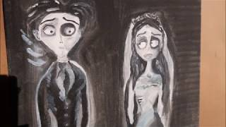 WATCH ME PAINT THE  CORPSE BRIDE BY TIM BURTON| SPEED VIDEO