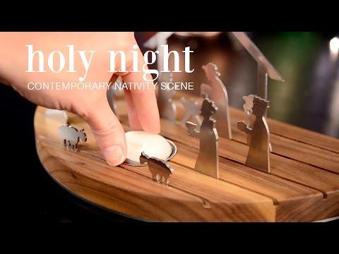 Holy Night Contemporary Nativity Scene