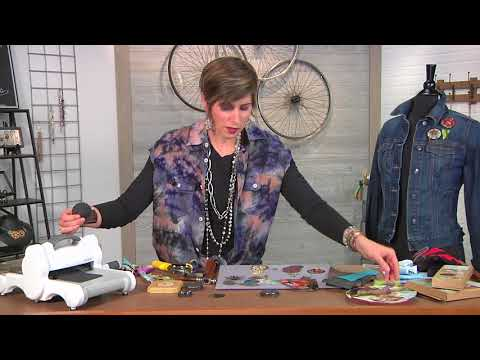 Cut up cookie tins to create jewelry on Beads, Baubles and Jewels with Candie Cooper (2605-2)