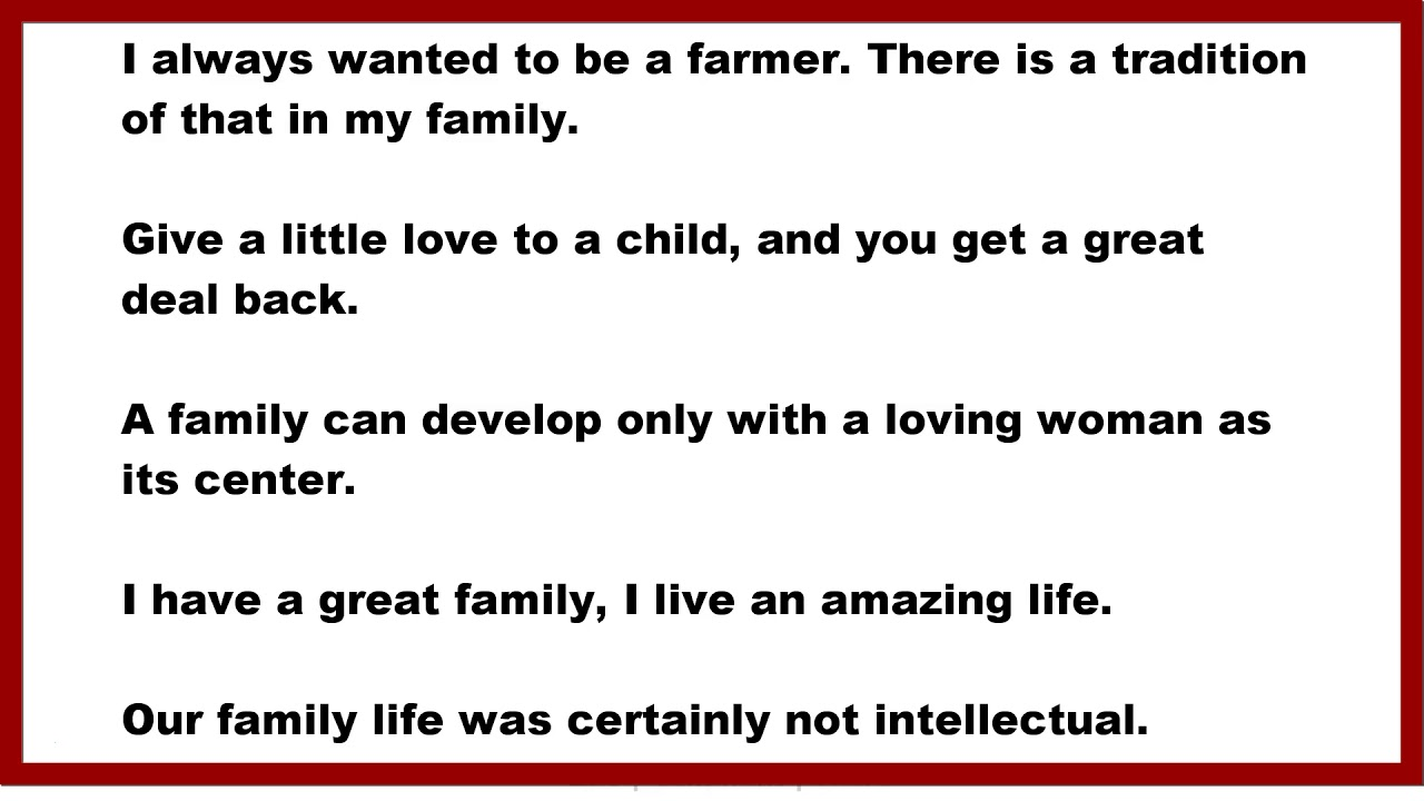 Family Quotes I Always Wanted To Be A Farmer There Is A Tradition