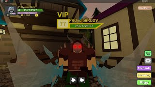 dungeon quest farming 75+ (roblox) grinding for titan forged warrior armor