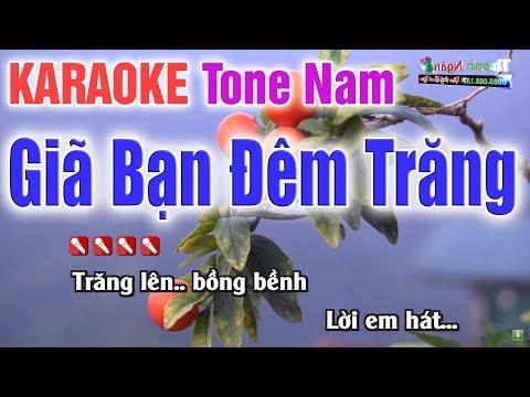 Giã Bạn Đêm Trăng Karaoke Tone Nam | Bản Chuẩn 2020 - Nhạc Sống Thanh Ngân