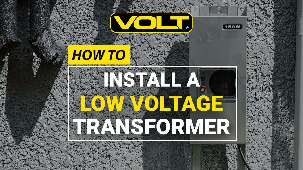 Outdoor Lighting Wire Volt university low voltage landscape lighting transformer volt university low voltage landscape lighting transformer installation youtube workwithnaturefo