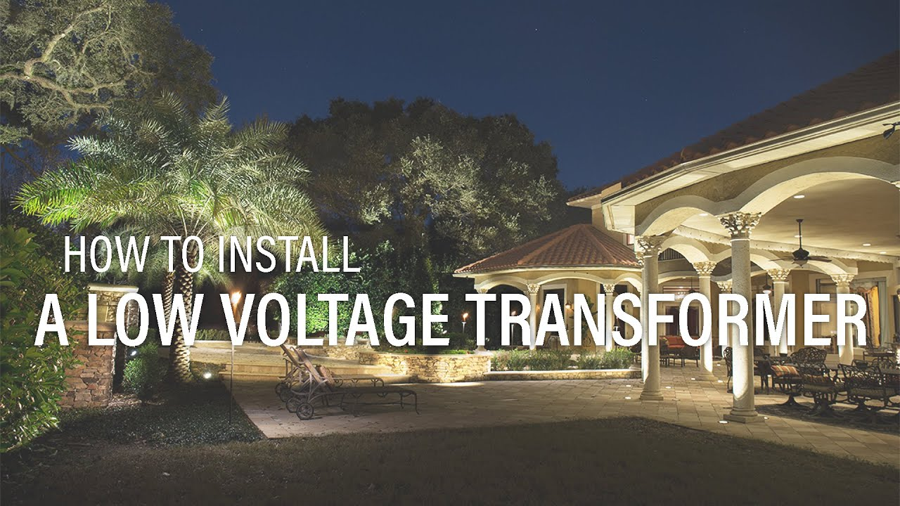 how to install a low voltage landscape lighting transformer volt youtube [ 1280 x 720 Pixel ]