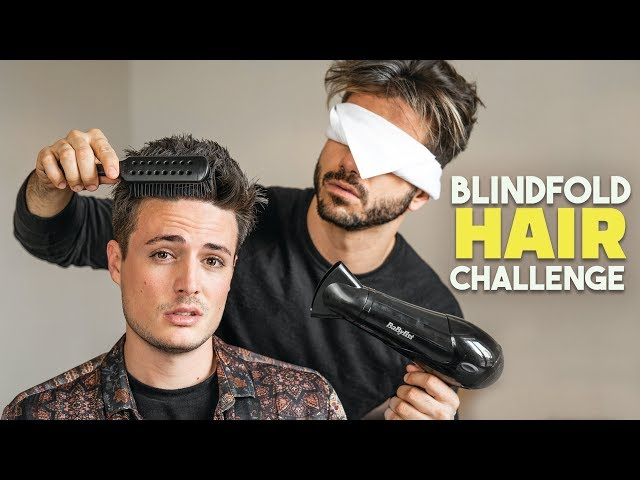 Blindfold Mens Hairstyle Challenge feat. Alex Costa | BluMaan 2018