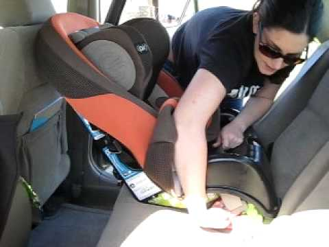 Installing a Rear Facing Car Seat (with seat belt) - YouTube