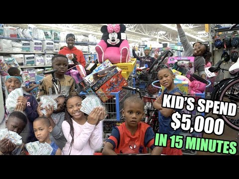 KIDS SPEND $5000 IN 15 MINUTES !! (GET ANYTHING YOU WANT)