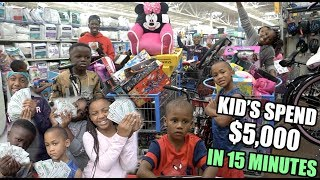 KID'S SPEND $5000 IN 15 MINUTES !! (GET ANYTHING YOU WANT)