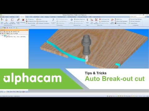 Auto Break-Out Cut | Alphacam