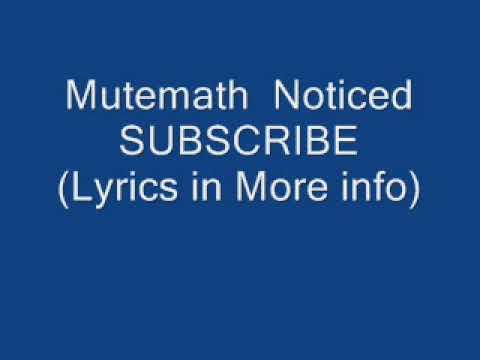 Mutemath Noticed