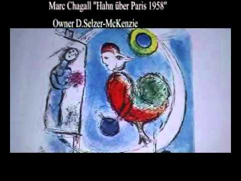 Marc Chagall Der Hahn über Paris 1958 Original Lithographie  Owner Selzer-McKenzie SelMcKenzie