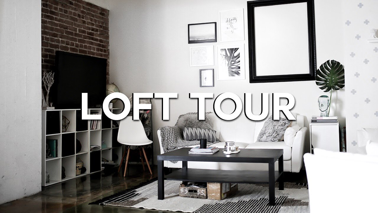 loft apartment tour 2016 downtown los angeles youtube. Black Bedroom Furniture Sets. Home Design Ideas