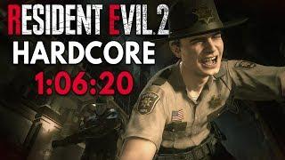 Resident Evil 2 (2019) - Leon A Hardcore Speedrun in 1:06:20 [Personal Best]