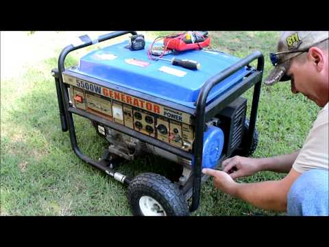 Generator Repair - Troubleshooting - Runs But No Power