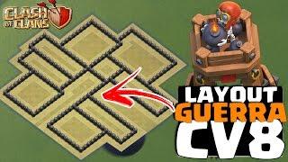 LAYOUT DE GUERRA P/ CV8 COM TORRE DE BOMBA | TH8 WAR BASE WITH BOMB TOWER! CLASH OF CLANS