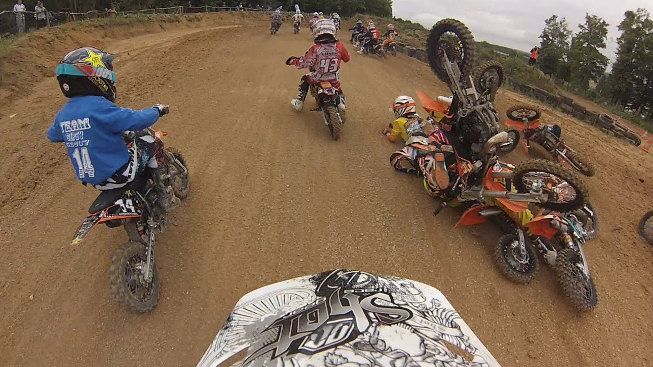 Motocross fail start crash KIDS MX RACE KTM50SX - YouTube