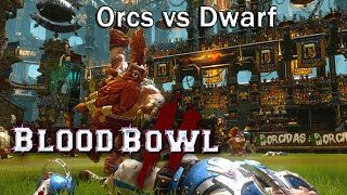 Blood Bowl 2 Match #2  - Dwarves vs Orcs [Full Game]