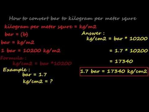 how to convert bar to kilogram per meter square - pressure converter