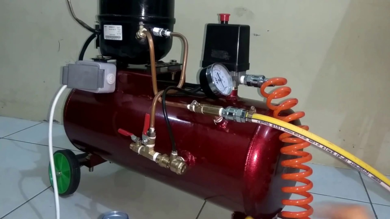 Homemade cock pump made with a ball pump