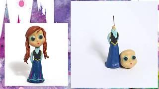 Лепим из пластилина: Принцесса Анна. Уроки лепки: ЛЕПКА-ЛЯПКА. How to clay Disney princess for kids