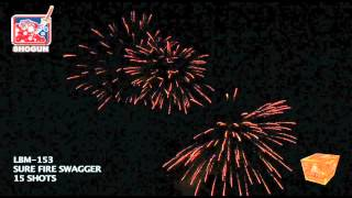 Sure Fire Swagger LBM 153 Shogun Fireworks by Red Apple Fireworks