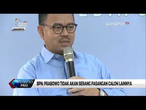 BPN: Prabowo Tidak Akan Menyerang Pasangan Calon Lainnya