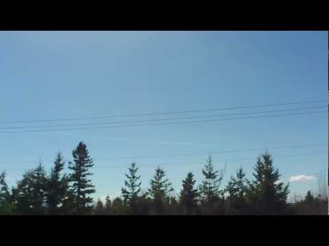 Contrail / Chemtrail Over Pictou County April 21 2012
