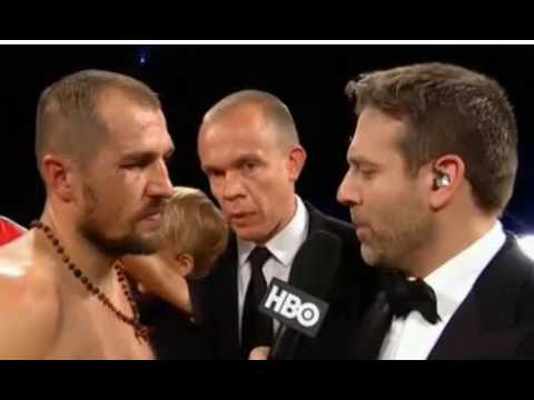 Sergey Kovalev Whining After KO Loss