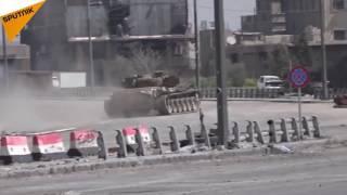 بالفيديو...القوات النخبوية في الجيش السوري تلاحق المسلحين قرب دمشق