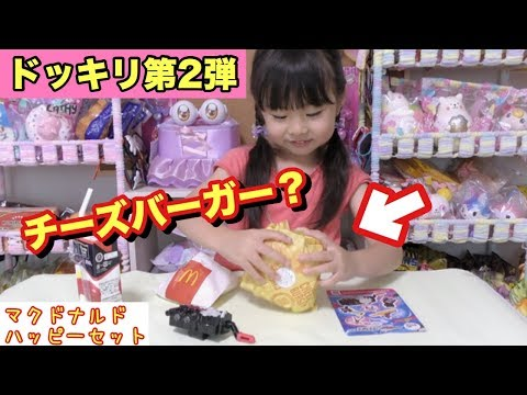 【ドッキリ】しのちゃん第2弾!!マックのチーズバーガーが…まさかの展開にママ謝っちゃう!