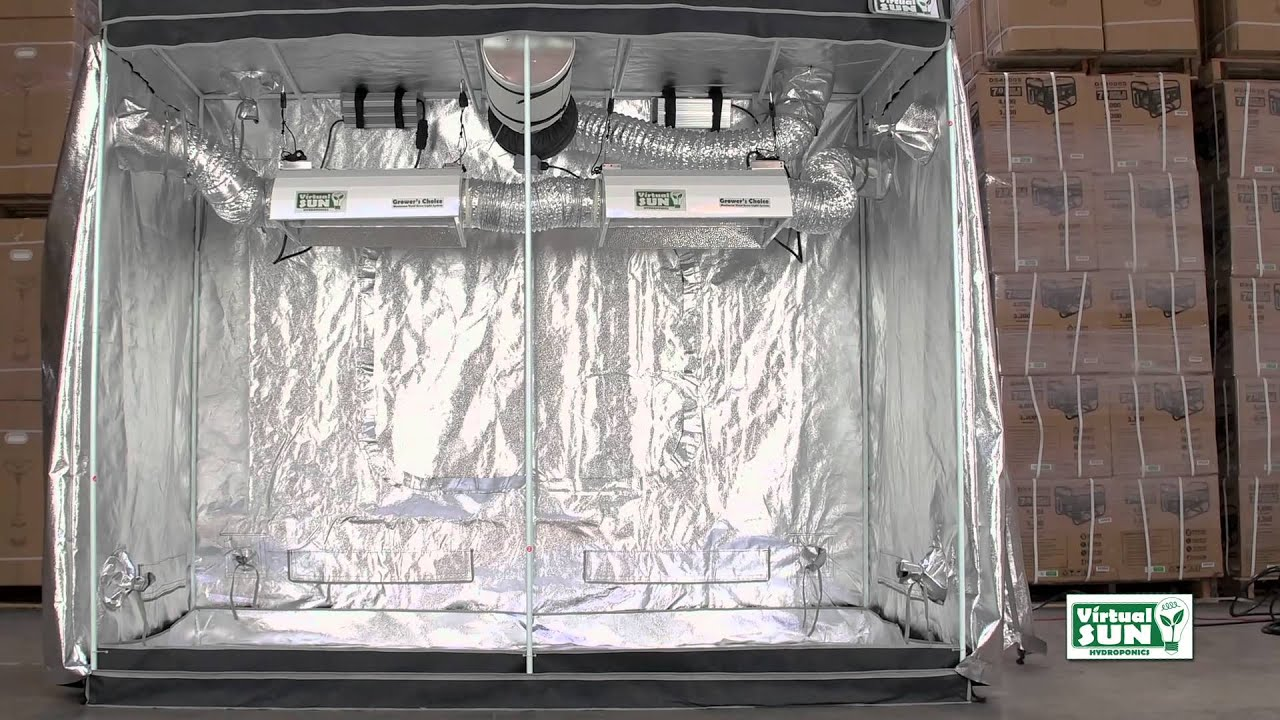 & Virtual Sun Hydroponics VS9600-48 Grow Tent Installation - YouTube