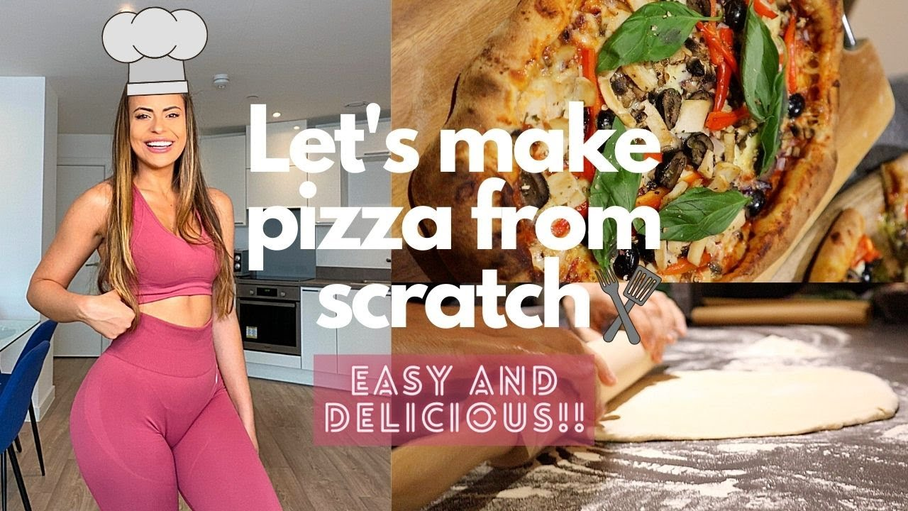 Easy and tasty homemade pizza recipe | We made pizza dough from scratch